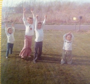 Yay! There's an empty lot behind us! Bunker Hill Road in Watertown, CT c. 1975.